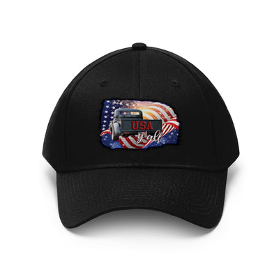 USA Truck Flag Unisex Twill Hat | The Chocolate Chicken | Modern Farmhouse Home Decor