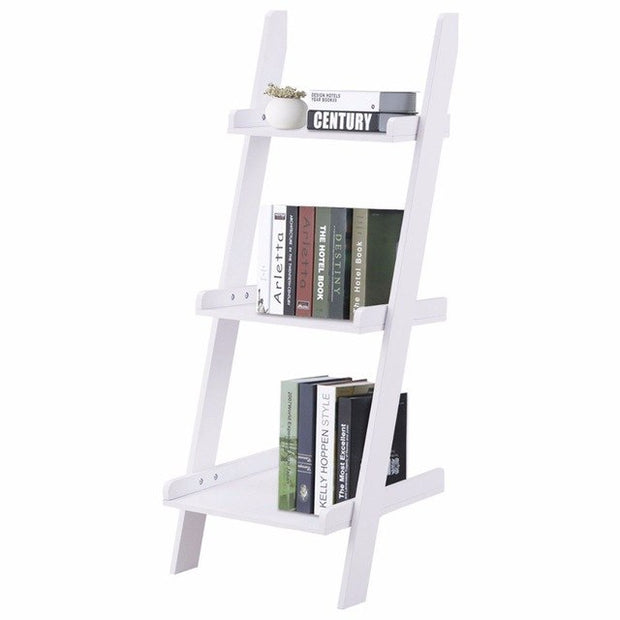 3 Tier Leaning Wall Ladder Book Shelf | The Chocolate Chicken | Modern Farmhouse Home Decor