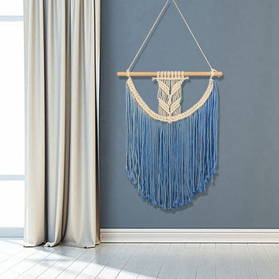 Handmade Macrame Hanging Dyed Bohemia Handcraft | The Chocolate Chicken | Modern Farmhouse Home Decor