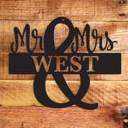 Mr. and Mrs. Monogram - Metal Wall Art/Decor | The Chocolate Chicken | Modern Farmhouse Home Decor
