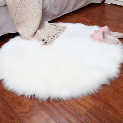Soft Artificial Sheepskin Rug Chair Cover Bedroom | The Chocolate Chicken | Modern Farmhouse Home Decor