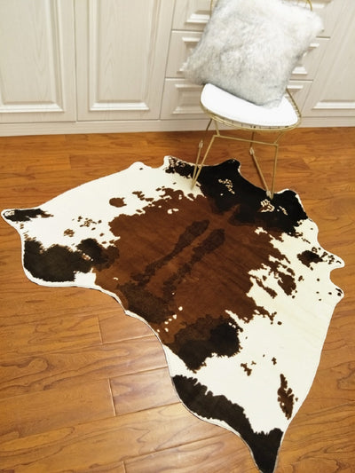 Brown Cowhide Rug Cow Print Mat | The Chocolate Chicken | Modern Farmhouse Home Decor
