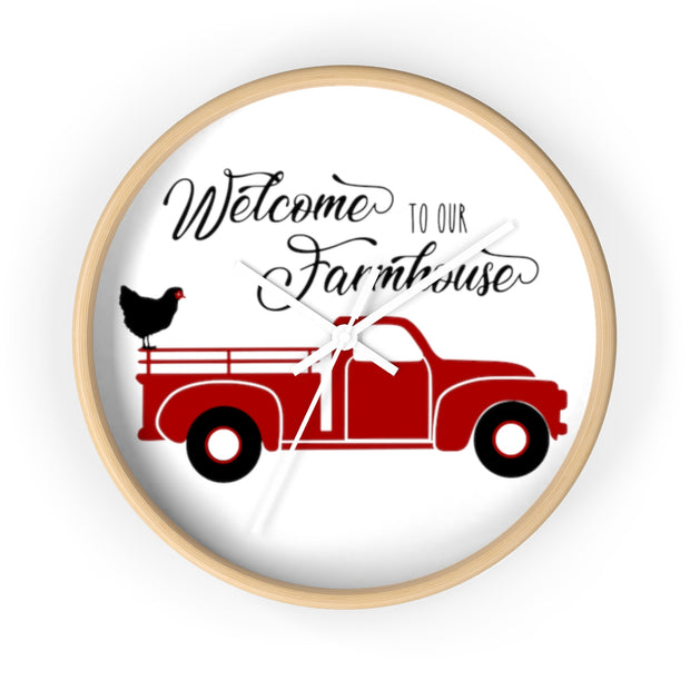 Welcome To Our Farmhouse Wall Clock | The Chocolate Chicken | Modern Farmhouse Home Decor