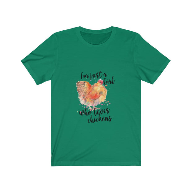 Girl and Her Chickens Unisex Jersey Short Sleeve Tee | The Chocolate Chicken | Modern Farmhouse Home Decor