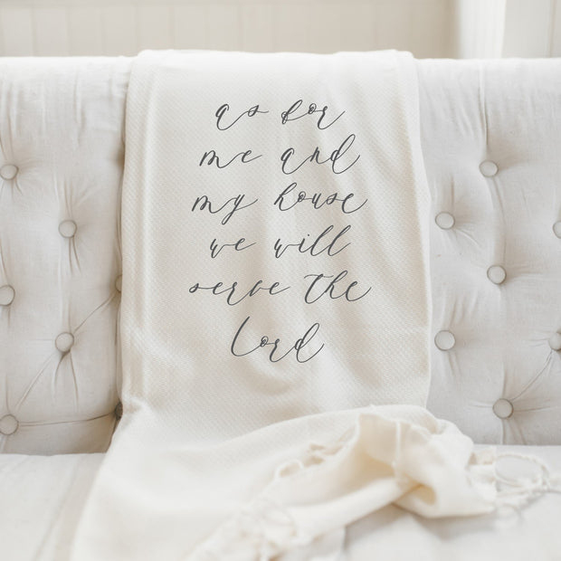 As for Me and My House Throw Blanket | The Chocolate Chicken | Modern Farmhouse Home Decor