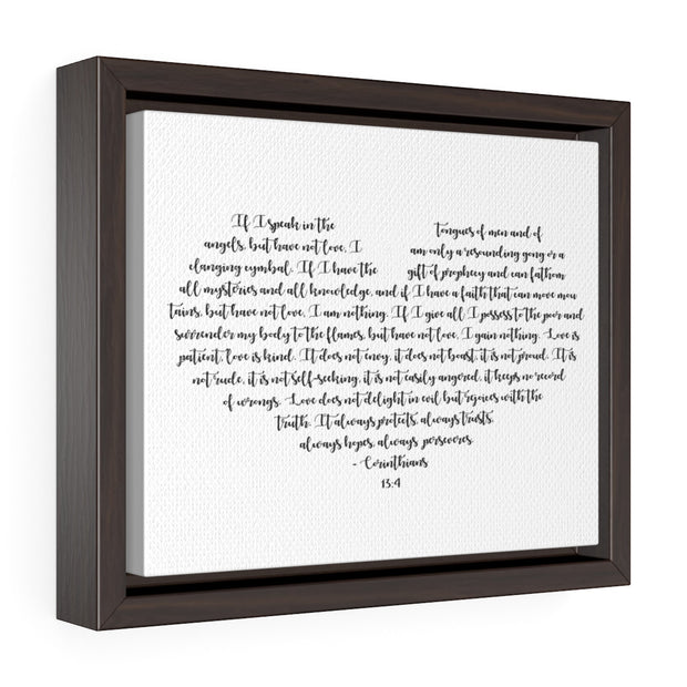 Love is Patient Canvas Print, Corinthians 13 4 Wedding Vow Sign | The Chocolate Chicken | Modern Farmhouse Home Decor