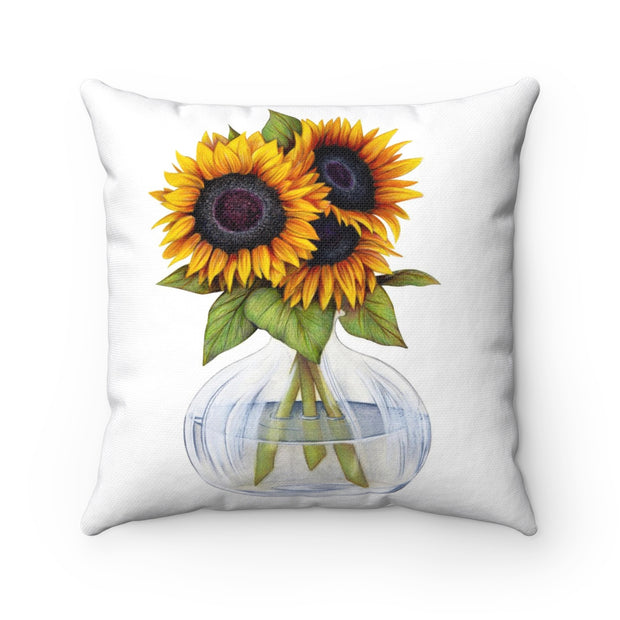Vase of Sunflowers Pillow | The Chocolate Chicken | Modern Farmhouse Home Decor