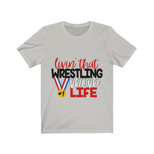 Wrestling Mom Life Unisex Jersey Short Sleeve Tee | The Chocolate Chicken | Modern Farmhouse Home Decor