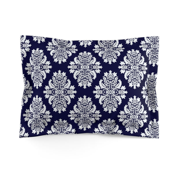 Blue Pillow Shams | The Chocolate Chicken | Modern Farmhouse Home Decor