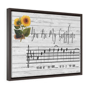 Your Are My Sunshine Song Lyric Canvas | The Chocolate Chicken | Modern Farmhouse Home Decor