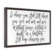 I Choose You Canvas Print White | The Chocolate Chicken | Modern Farmhouse Home Decor