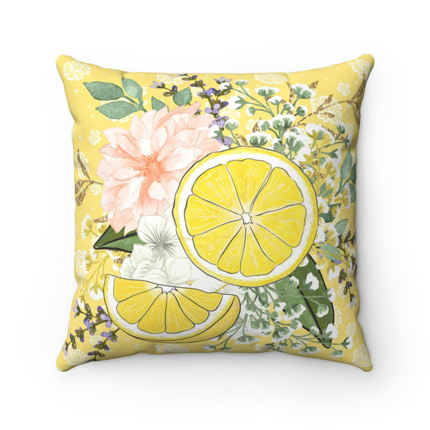 Summertime Lemon Pillow | The Chocolate Chicken | Modern Farmhouse Home Decor