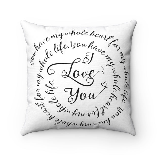 I Love You Quote Pillow | The Chocolate Chicken | Modern Farmhouse Home Decor