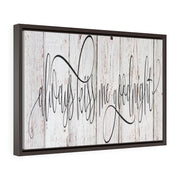Always Kiss Me Goodnight Faux Wood Canvas Print | The Chocolate Chicken | Modern Farmhouse Home Decor