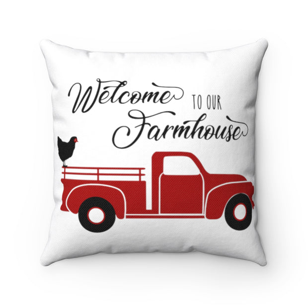 Welcome to Our Farmhouse Pillow | The Chocolate Chicken | Modern Farmhouse Home Decor