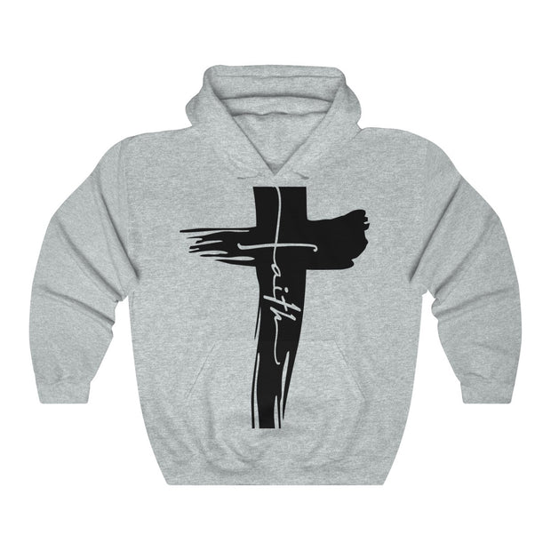Faith Unisex Heavy Blend™ Hooded Sweatshirt | The Chocolate Chicken | Modern Farmhouse Home Decor