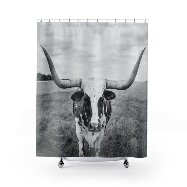 Texas Longhorn Shower Curtain | The Chocolate Chicken | Modern Farmhouse Home Decor