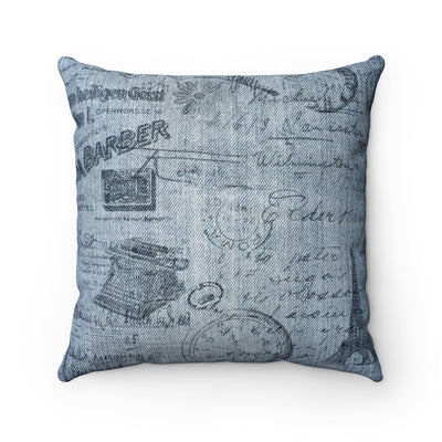 Vintage Denim Pillow | The Chocolate Chicken | Modern Farmhouse Home Decor