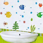 Bubbles Fish Wall Decals | The Chocolate Chicken | Modern Farmhouse Home Decor