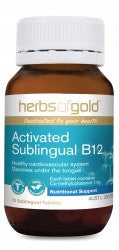 Herbs of Gold Activated Sublingual B12 75 tablets - Mountain Health Online