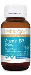 Herbs of Gold Vitamin B3 500mg 60 tablets - Mountain Health Online
