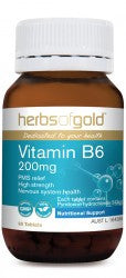 Herbs of Gold Vitamin B6 200mg 60 tablets - Mountain Health Online