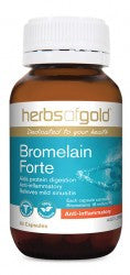 Herbs of Gold Bromelain Forte 60 capsules - Mountain Health Online