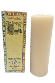 Meditation Candle Tall 70 hours - Mountain Health Online