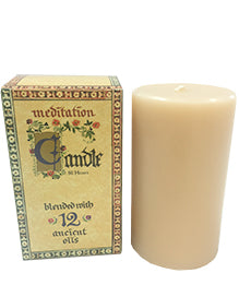 Meditation Candle Wide 80 hours - Mountain Health Online