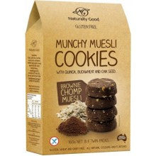 Naturally Good Munchy Muesli Cookies Brownie Chomp 160gm - Mountain Health Online