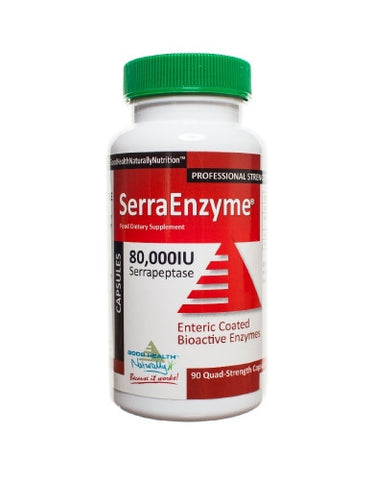 SerraEnzyme 80,000 I.U 90 capsules - Mountain Health Online