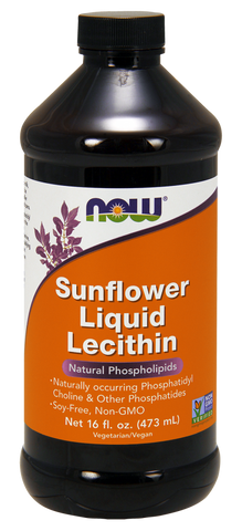 Now Sunflower Liquid Lecithin 473ml