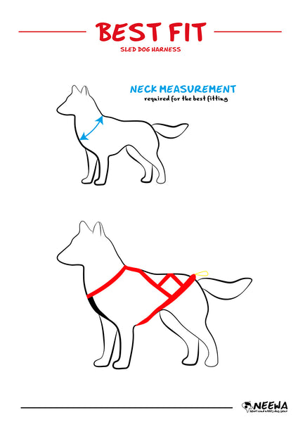 Neewa Perfect-Fit Pulling Harness Size Guide