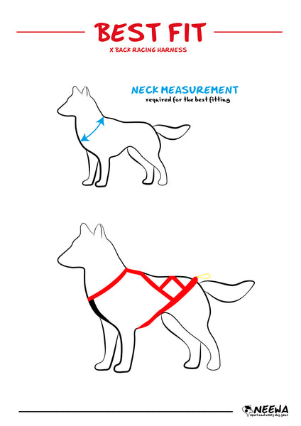 Neewa X-Back Racing Harness Size Guide