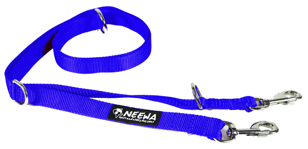 blue adjustable dog leash from neewadogs.com