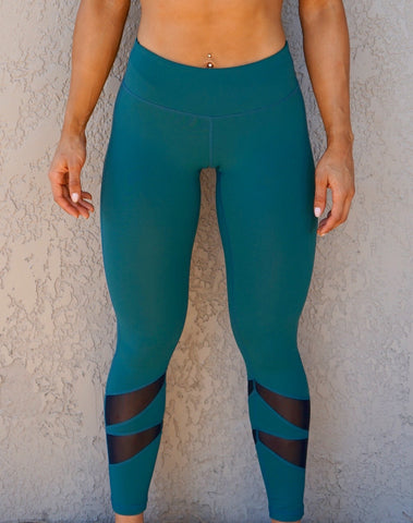 AVA MID RISE FULL LENGTH LEGGINGS - HUNTER GREEN