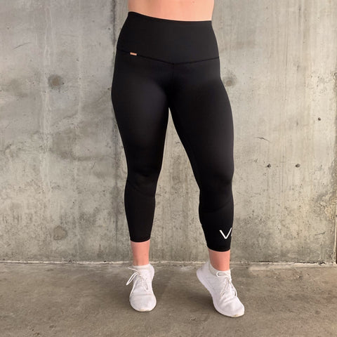 VAUNT x DEDIKATED ESSENTIAL 7/8 LEGGINGS - BLACK