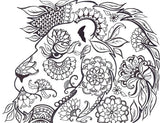 Mandala Lion Coloring Page - Free Download
