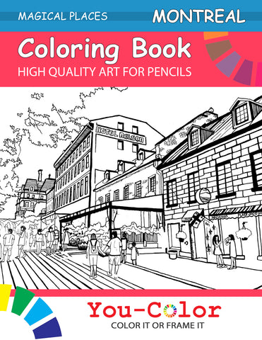 Colouring book of Montreal destinations