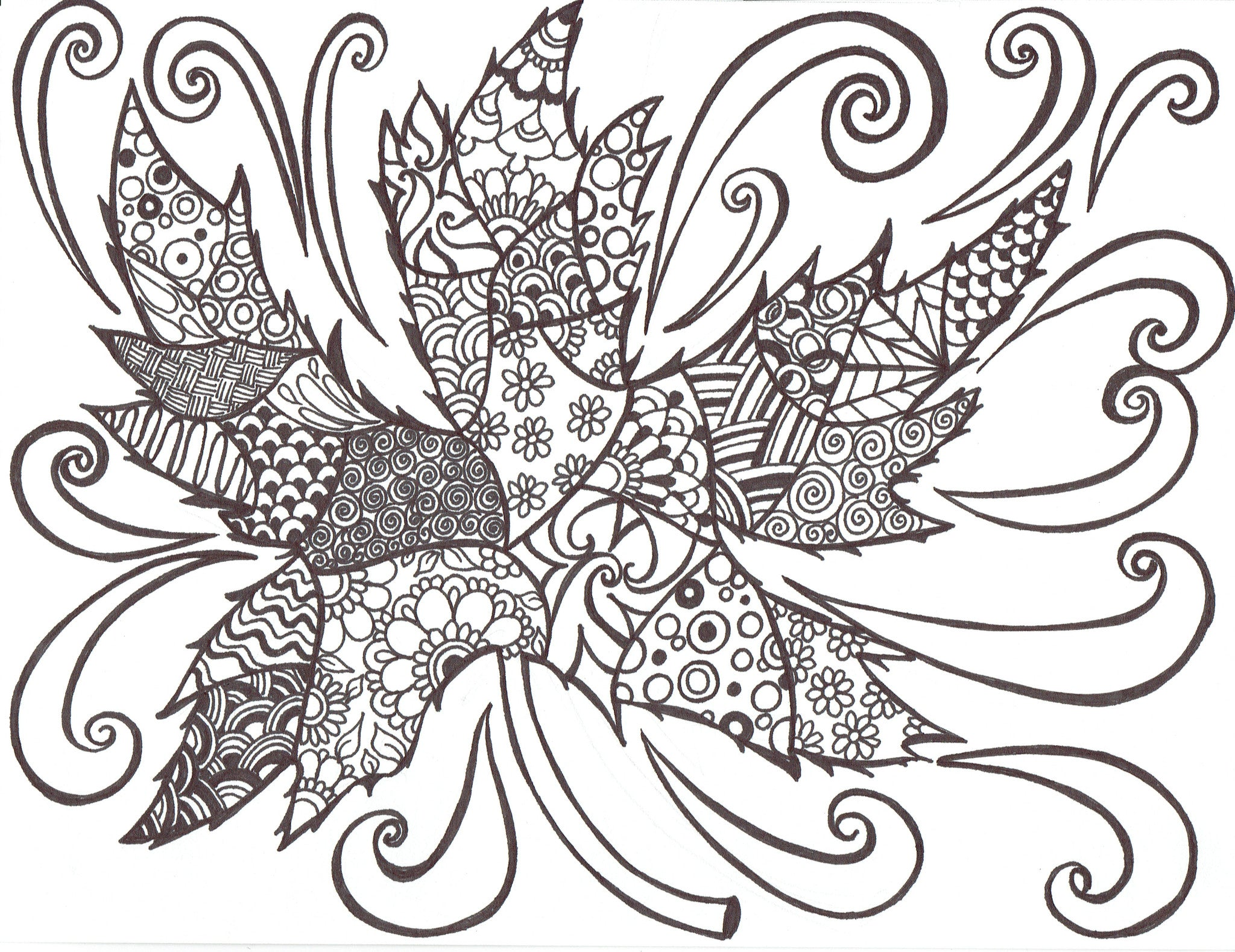 Maple Leaf Mandala in the Wind - You-Color