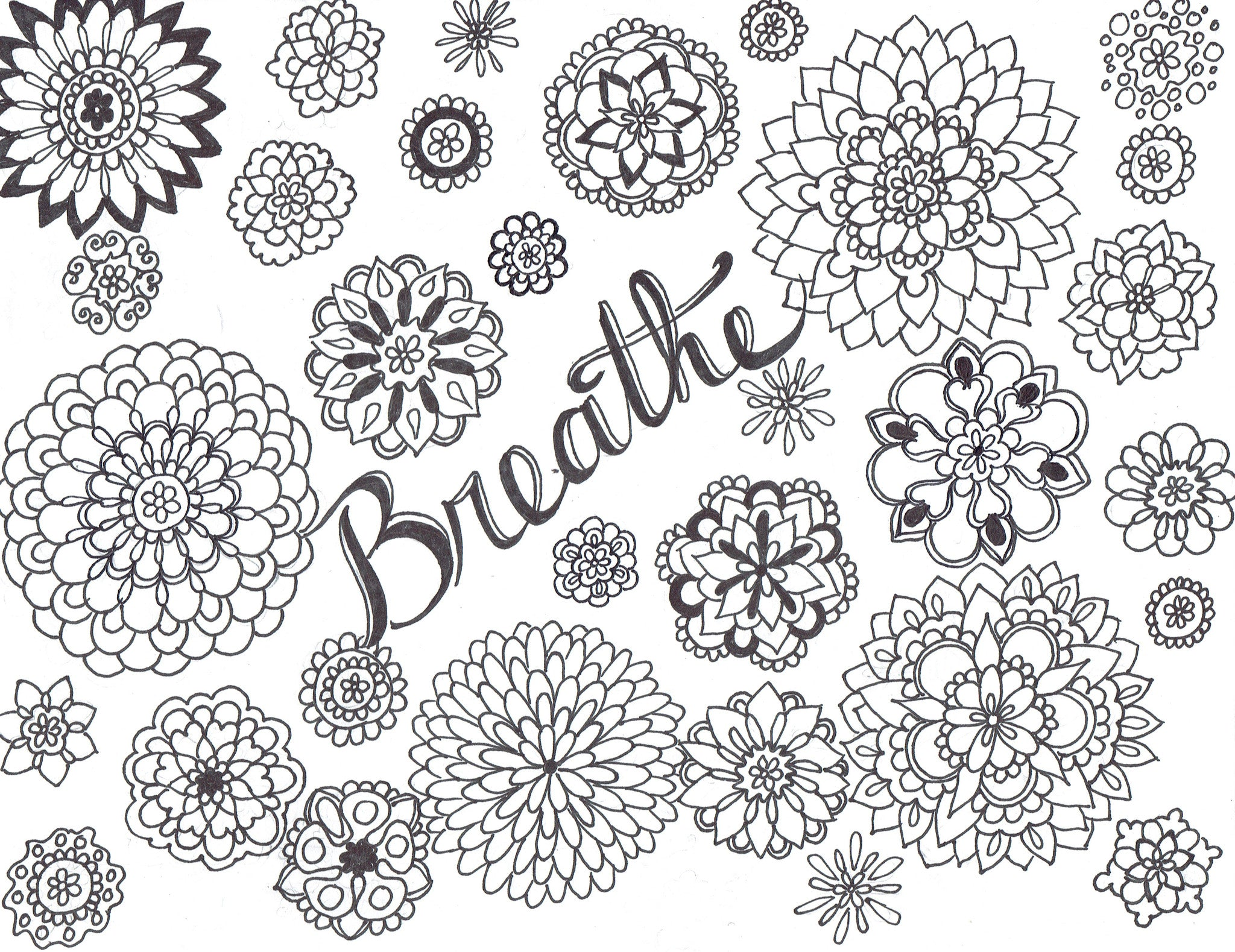 Breathe For Your Life FREE Coloring Page - You-Color