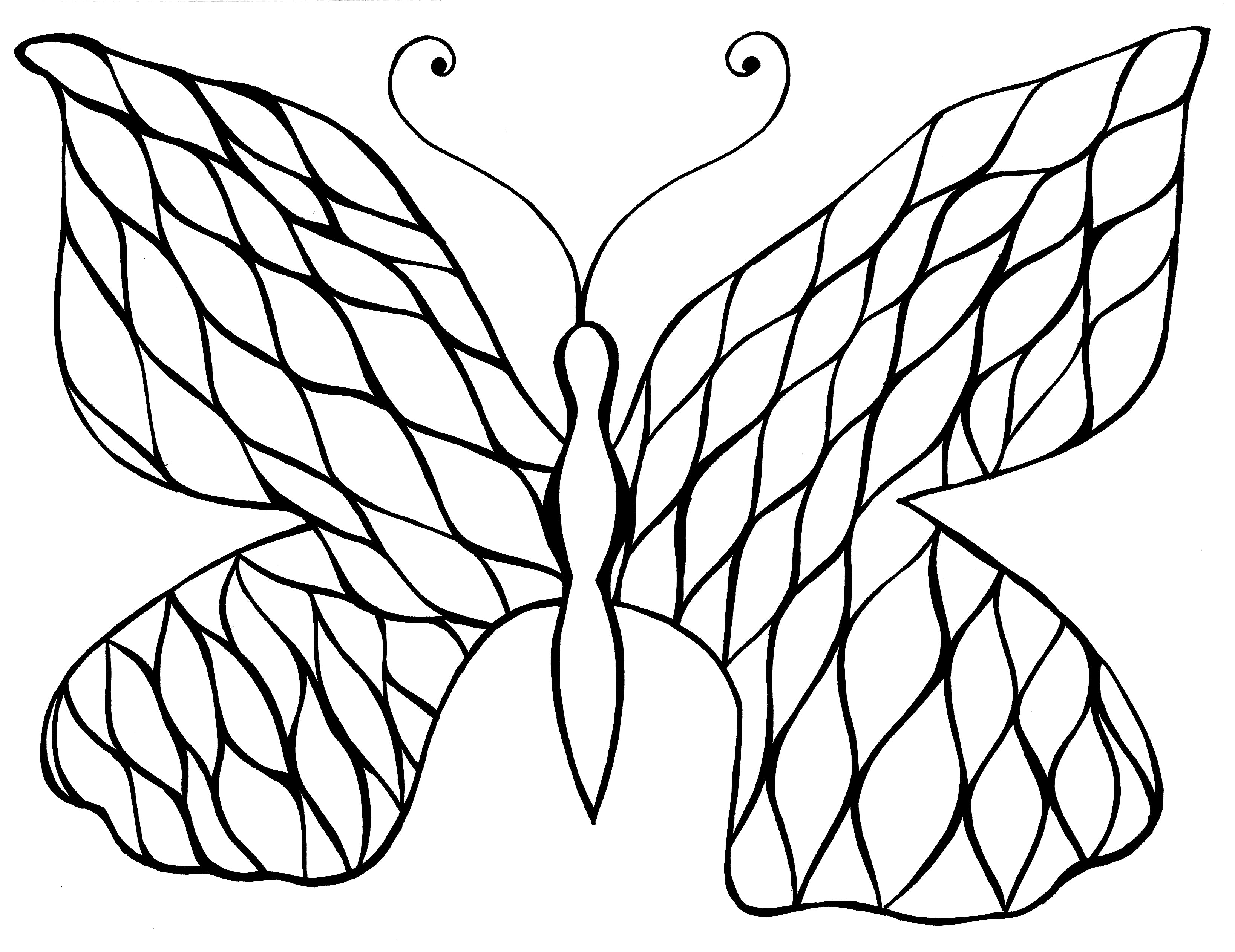 picture relating to Printable Butterfly Coloring Pages called Easy Butterfly Coloring Web page Yourself-Coloration