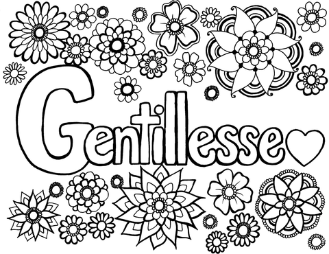 Gentillesse - Kindness in French - You-Color