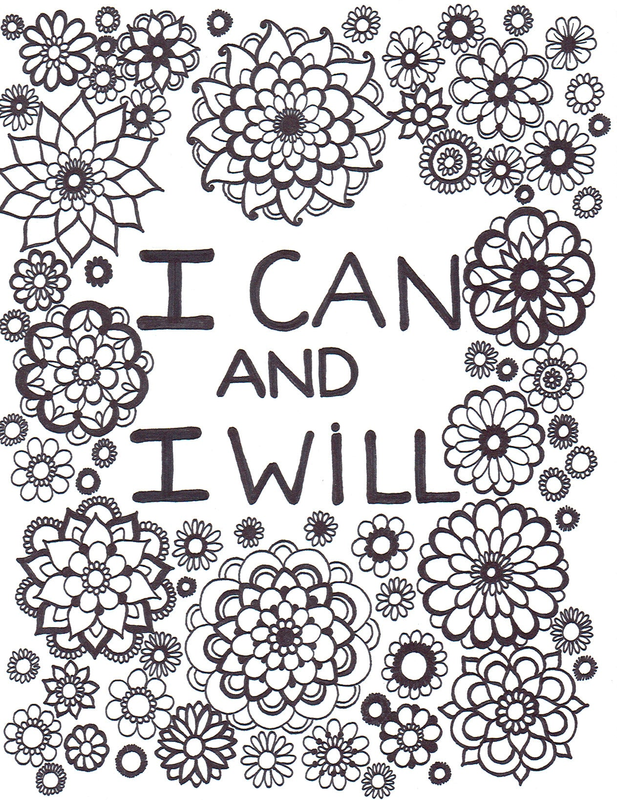 I Can And I Will Coloring Page - You-Color