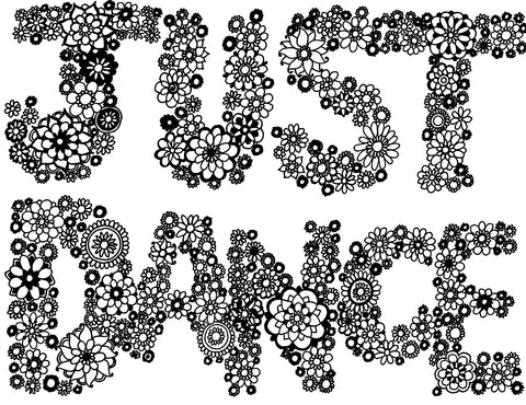 Just Dance Free Coloring Page - You-Color