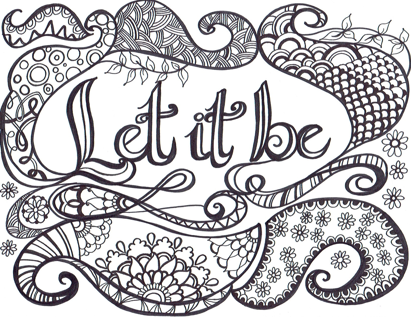Let It Be - Poster for Coloring - You-Color