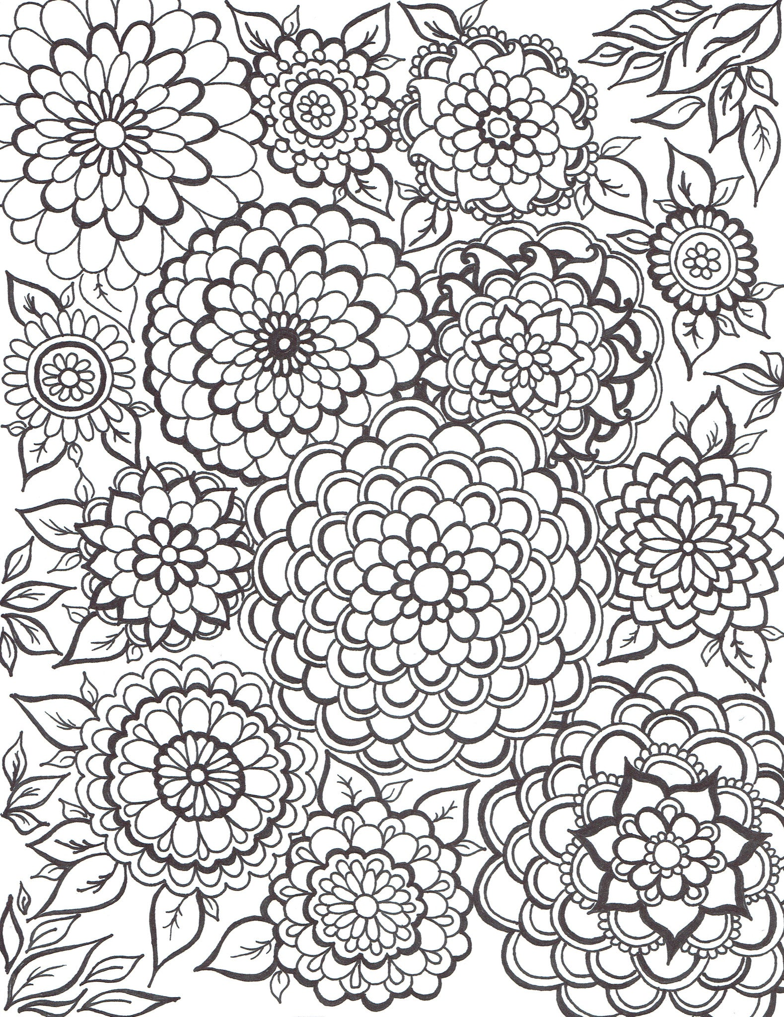 Invasion of Mandala Flowers - You-Color