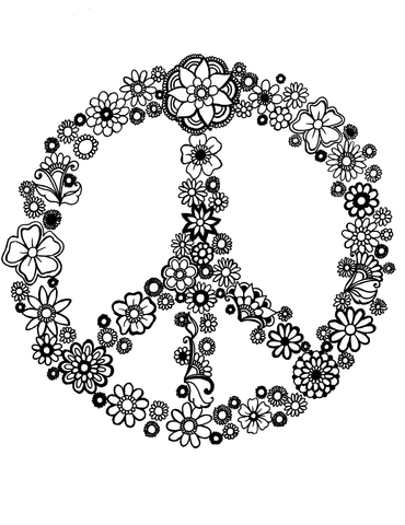 Peace Sign in Mandalas - You-Color