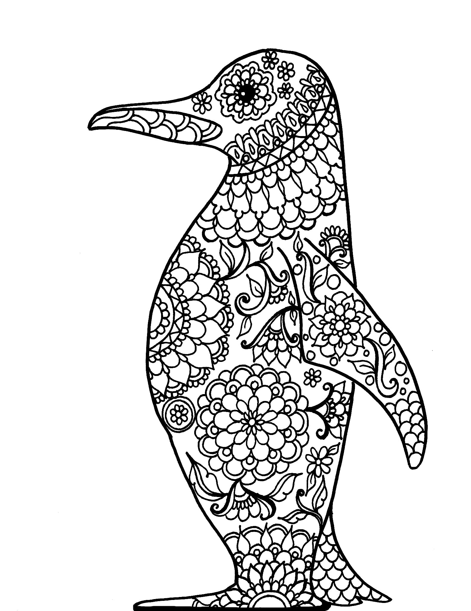 Mandala Penguin - You-Color