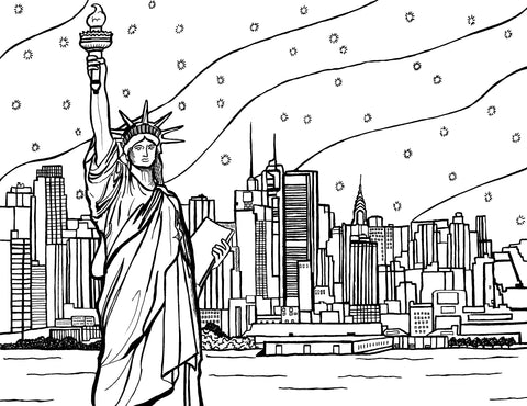 New York City Coloring Pages – You-Color